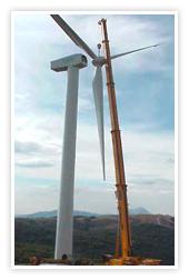 Construcción energía eólica